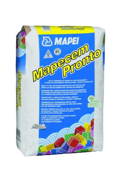 Le Mapecem Pronto est un mortier à séchage rapide pour les locaux P4S. [©Mapei]