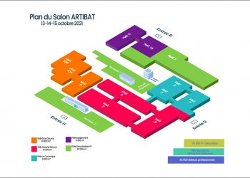 Plus de 1 000 fabricants et distributeurs ont répondu présents pour la 17e édition du salon Artibat 2021. [©Artibat]